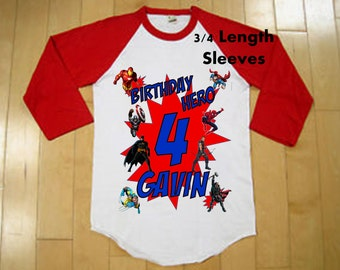 Superhero Birthday  - Super Hero Shirt