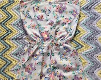 Vintage Girls Floral Romper Size 8