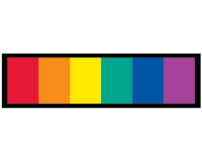 LGBT Rainbow Decal Vinyl or Magnet Bumper Sticker