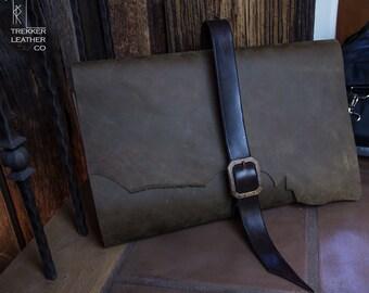 Jumbo Leather Sketchbook | Handmade in the U.S.A. | Brown Leather Sketchbook