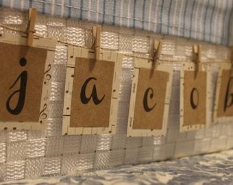 Customized Rustic Name Tags/Mini Name Banner//Personalized Rustic Name Tags/Mini Name Banner