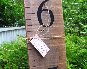 Growth Chart - baby growth ruler, wooden height chart with black numbers, baby shower gift, rustic growth chart, kids measuring stick