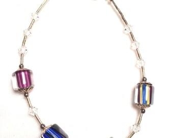 925 sterling silver bracelet with gem