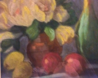 "Pastel painting by Marie Wilson-Lago 25""x 19""w, framed"
