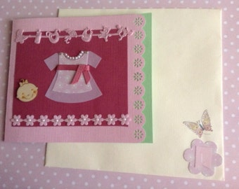 Handmade card, done in pastel colors