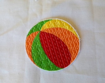 READY TO SHIP!!!! Summer Time At The Beach- Beach Ball Embroidered Iron On Patches.