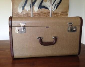 Tweed Mendel Suitcase Unusual Size