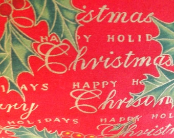 Alexander Henry Happy Holidays Christmas cotton fabric