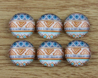 10 pcs 12mm Handmade photo glass cabochon cabs-487-6