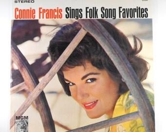 Connie Francis Sings Folk Song Favorites Vintage Vinyl LP