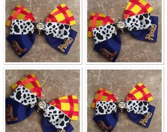 Woody inspired hair bow