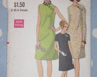 1960s Vogue 7362 Dress Pattern Sz 20 1/2