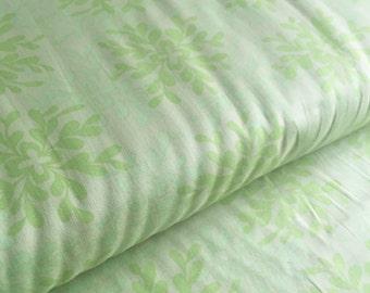 Leaves LIME Nest Voile Valori Wells FreeSpirit Fabric