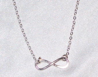 Dainty Sterling Silver Infinity Necklace * Simple, Minimal, Delicate * Great for Layering