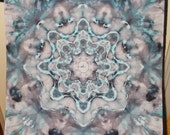 """Ice Dyed, Hippie, Bandana 22""""x22"""" Mandala  Tapestry Wallhanging Dyed by SPLASH Beautiful Color combinations"""