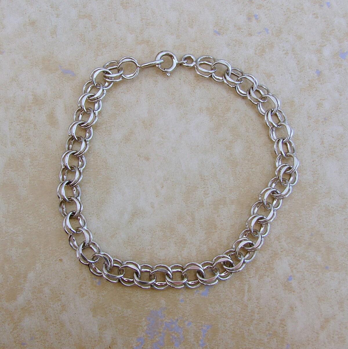 sterling silver link starter charm bracelet 8