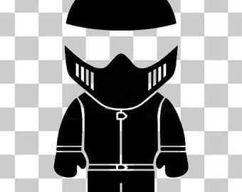 The Stig top gear novelty car van bumper sticker decal