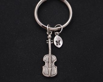 cello keychain, initial keychain, music charm, cello charm,3D music instrument charm, musical keychain, gift for cellist, cello teacher gift