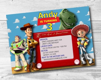 Toy Story Invitation Printable -  Toy Story Party - Toy Story Birthday Invitation - Customizable for any type of party