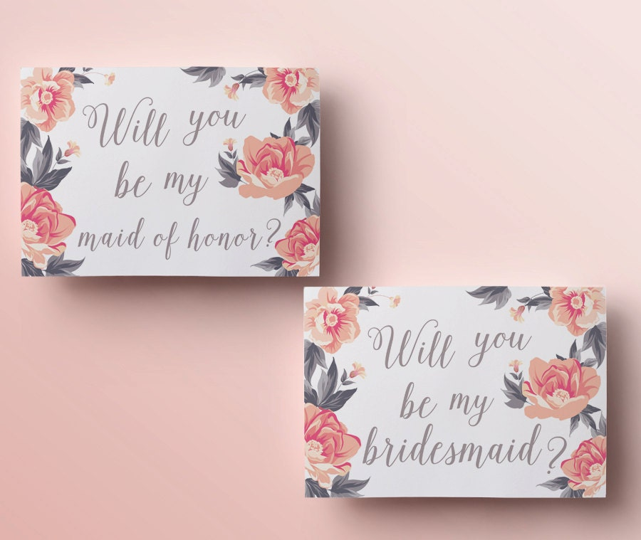 It is a picture of Striking Will You Be My Bridesmaid Cards Printable