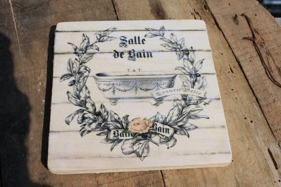 Tag legno fuori porta bagno shabby chic francese toilette for Toilette shabby chic