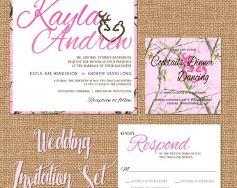 camo invitation  etsy, Wedding invitations