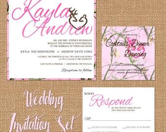camo invitation  etsy, Wedding invitations