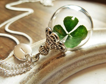 925 Silver Necklace Four- Leafed Clover