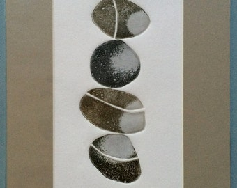 4 Pebbles Limited Edition Mounted Etching No. 10 of 10