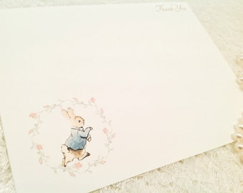 Peter Rabbit Note Cards-Thank You Baby Cards - Set of 10