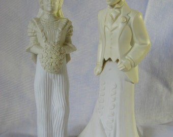 Non-traditional Bride and Groom - Avon Bottles