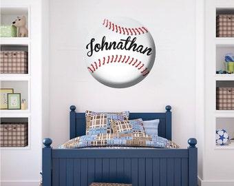Baseball Wall Decal Custom Art Personalized Decals Decor