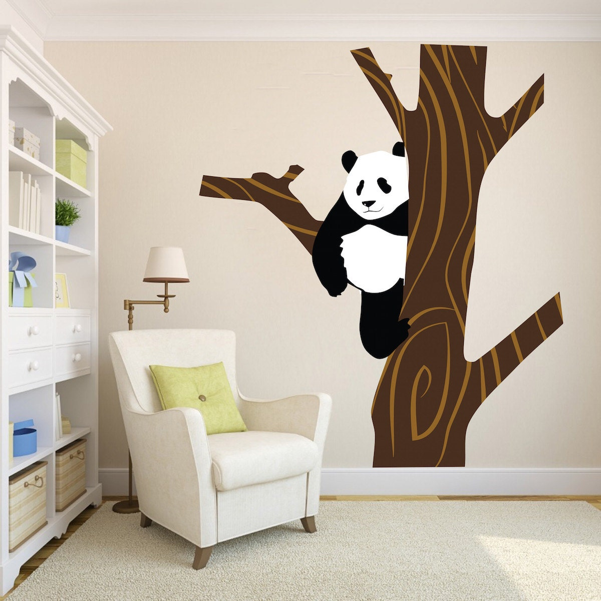 Panda Bear Decal Mural Nursery Wall Decal Bear Panda Bear