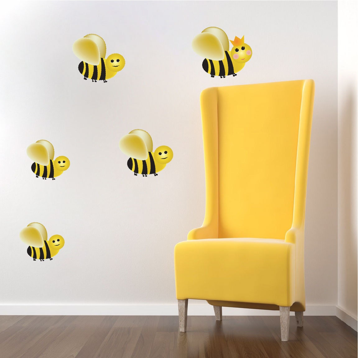 Bumble Bee Wall Decals Stickers Nursery Bee Bedroom Designs Queen ...