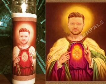 Saint Justin Timberlake Prayer Candle
