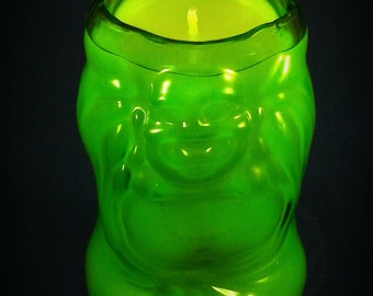Very different Lucky Buddha beer bottle candle
