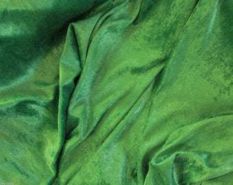 Emerald Green Crushed Velvet Fabric Craft Stretch Velour 150 cm Wide