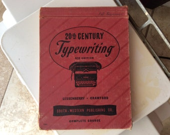 1947 20th Century Typewriting, 5th Edition, Complete Course