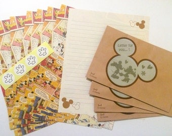 Mickey Mouse Stationery Set with Window Envelopes