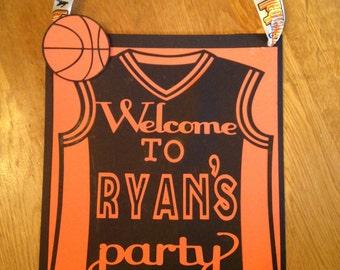Basketball door signbirthday party door signbasketball decorations basketball birthday party & Basketball door sign | Etsy Pezcame.Com