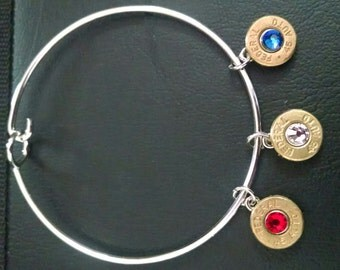Bangle with Bullet Charms