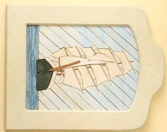 Wooden Lath Ship Art