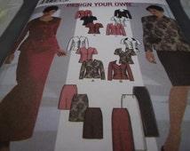 2002 Simplicity 5785 Sewing Pattern, Two Piece Dress, Sz.16-18, Cut
