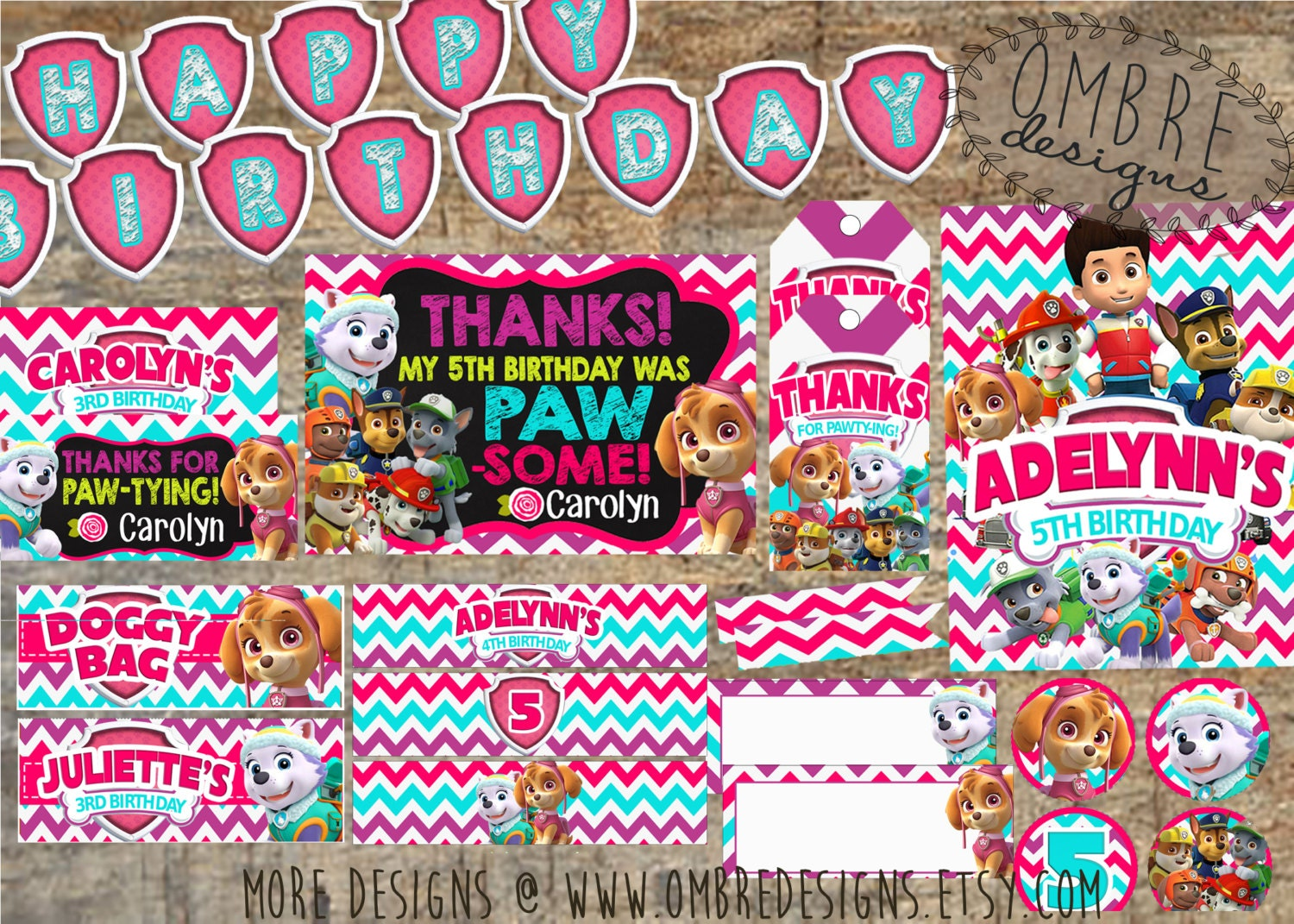 Paw Patrol Party Favor Tags Thank You Search