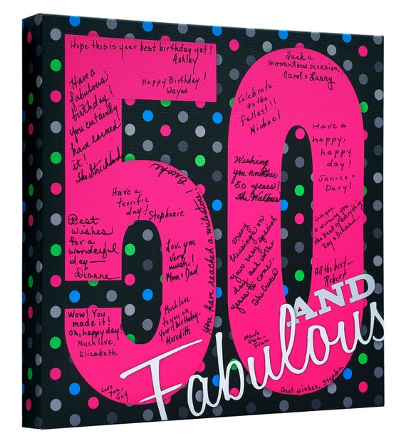 50th Birthday Party 50th Birthday Guest Book 50 And