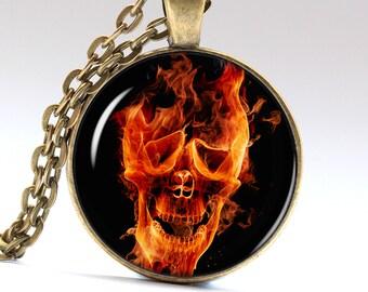 Skull Jewelry Skeleton Pendant Face Necklace Necklaces Pendants Jewellery  LG141