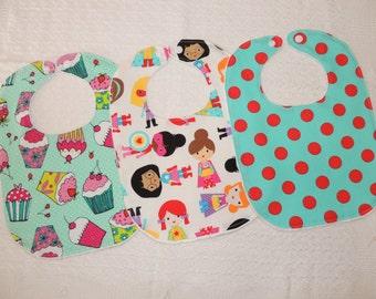 Baby Bibs -Set of 3- Baby gift, Baby care