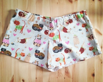 Cat Lover Pajama Shorts