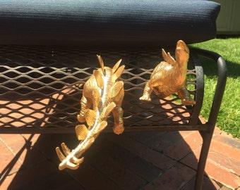 Dino magnets/ Pair of Stegosaurus magnets/ dinosaurs/ fridge fun