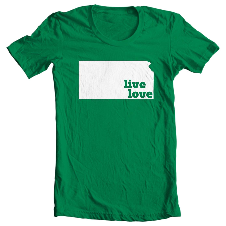 Kansas T-shirt - Live Love Kansas - My State Kansas T-shirt